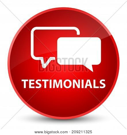Testimonials Elegant Red Round Button