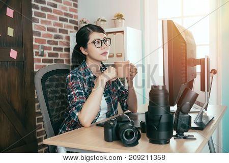 Pretty Female Photo Stock Company Photographer