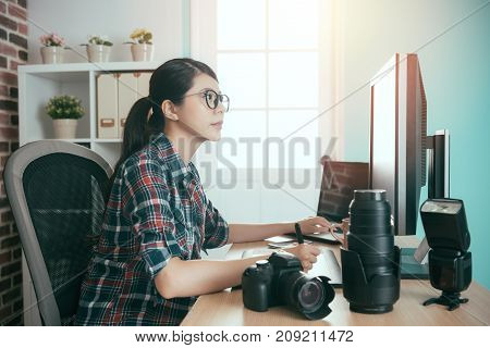 Smiling Young Picture Company Office Worker Girl
