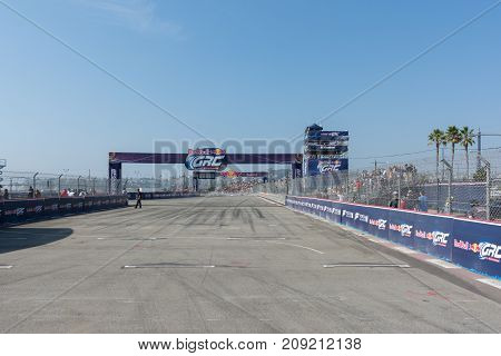 San Pedro, CA - October 14, 2017: Race circuit during the Red Bull GRC Global Ralleycross Championship.