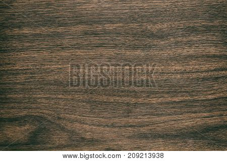 Vintage Surface Wood Table And Rustic Grain Texture Background. Close Up Of Dark Rustic Wall Made Of