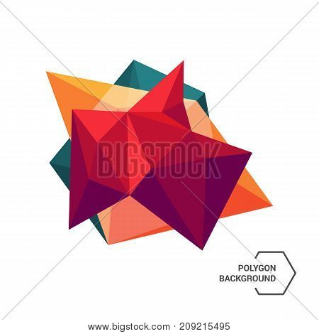 Abstract colorful geometric low poly background vector illustration