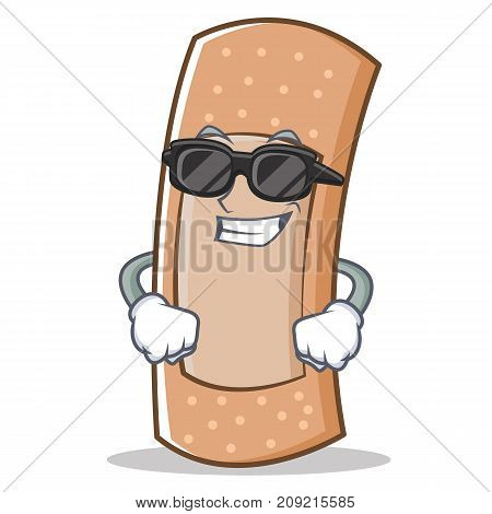 Super cool band aid character cartoon vector illustration