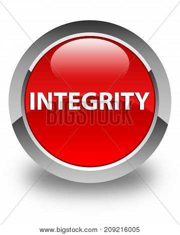 Integrity Glossy Red Round Button