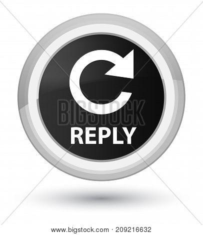 Reply (rotate Arrow Icon) Prime Black Round Button