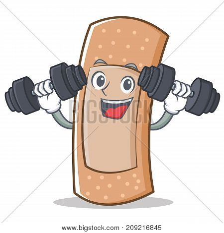 Fitness band aid character cartoon vector illustration
