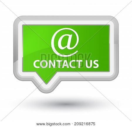 Contact us (email address icon) isolated on prime soft green banner button abstract illustration poster