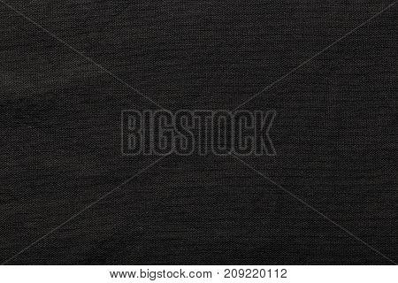 Black burlap background and texture The texture of the burlap closeup