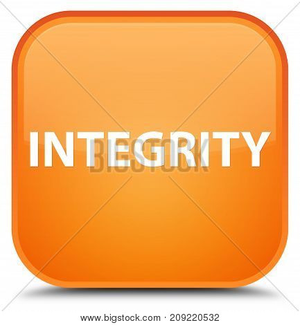Integrity Special Orange Square Button