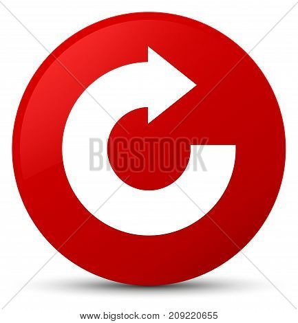 Reply Arrow Icon Red Round Button