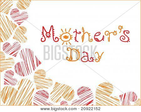 love background with mothers day illustration