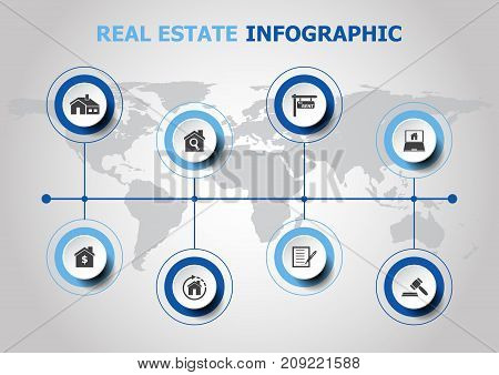Infographic design with resl estate icons, stock vector