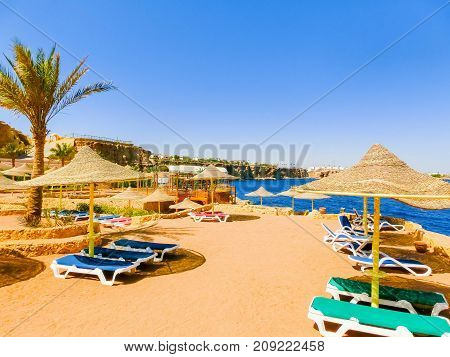 The view of hotel at Sharm El Sheikh, Egypt