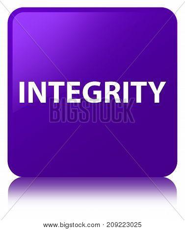 Integrity Purple Square Button