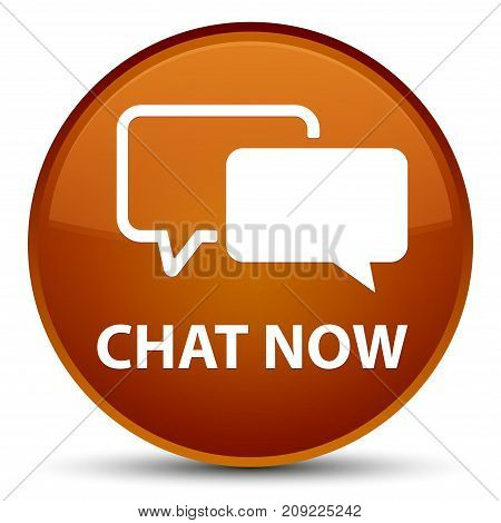 Chat Now Special Brown Round Button