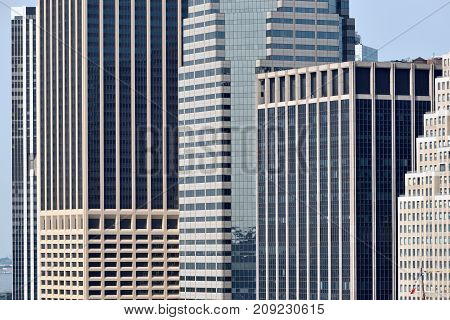 Modern Business Office Buildings in Manhattan New York City