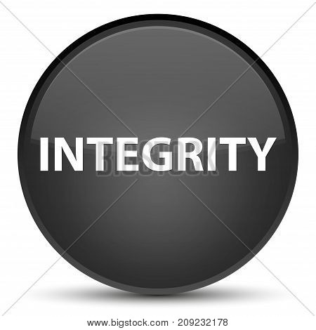 Integrity Special Black Round Button