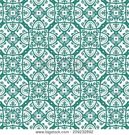 Orient vector classic pattern. Seamless abstract background with colored repeating elements. Orient background