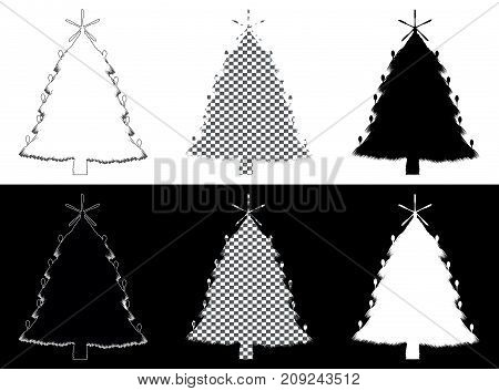 Decorative holiday christmas tree made of silverware
