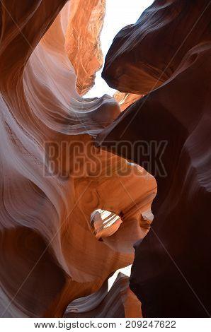 Antelope Canyon American Southwest. Arizona North America.