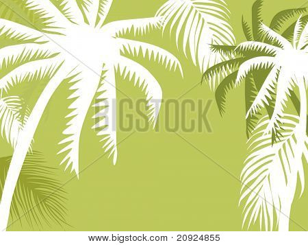 abstract background with palm tree, vector illustration