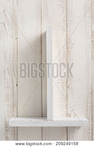 shelf at  wooden background texture