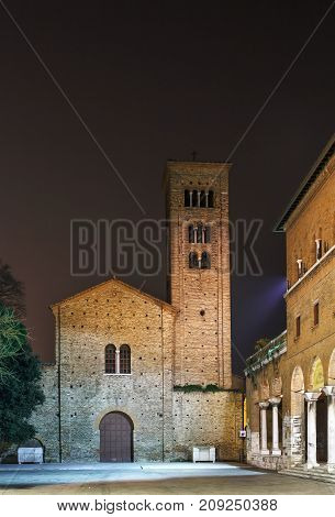 The St. Francis basilica rebuilt in the 10th - 11th centuries over a precedent edifice dedicated to the Apostles. In evening