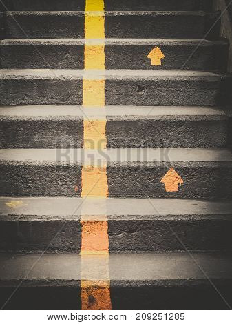 Light and Shade of Stairway outdoor in city, Abstract Landscape Architecture
