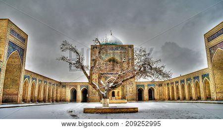Mosque Kalyan and f Po-i-Kalyan complex at Bukhara Uzbekistan