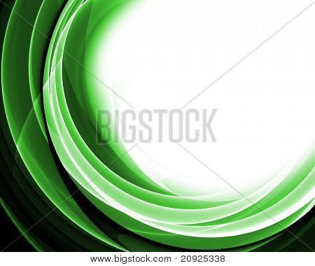 abstract wave composition poster