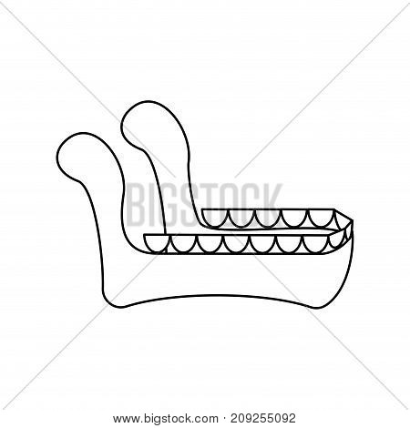 Lower Jaw Isolated. Bones Face Vector Illustration