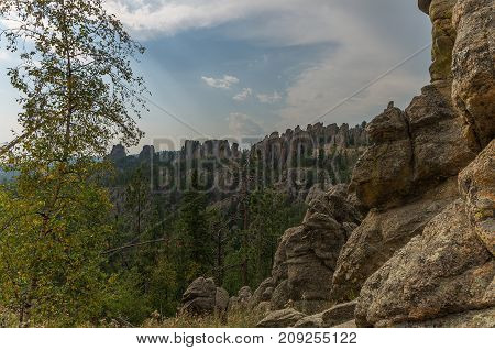 Needles Highway in the Black Hills of South Dakota near Mount Rushmore National Monument