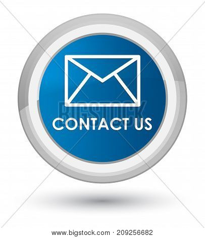 Contact Us (email Icon) Prime Blue Round Button