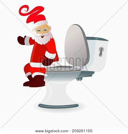 New Year And Christmas. Constipation