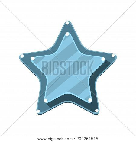 Blue cartoon star vector Illustration isolated on a white background