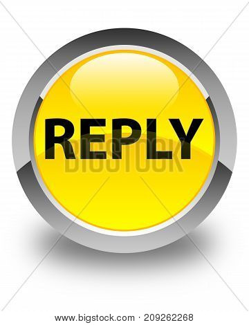 Reply Glossy Yellow Round Button