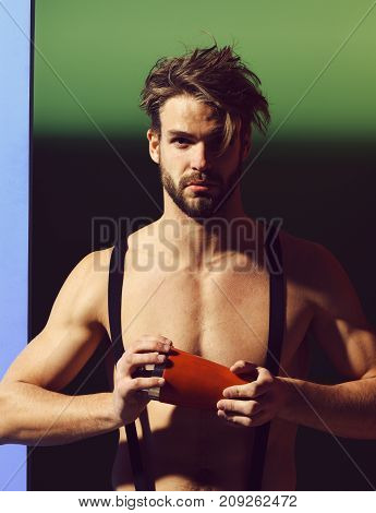 Handsome Muscular Man With Shaker