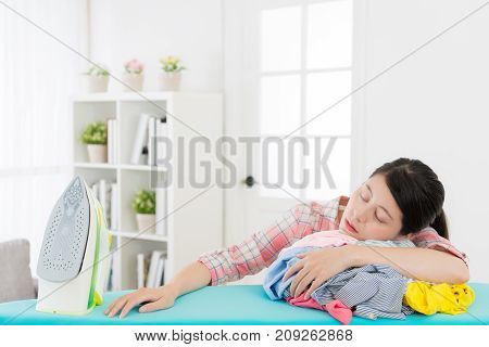 Young Beautiful Mother Doing Housekeeping