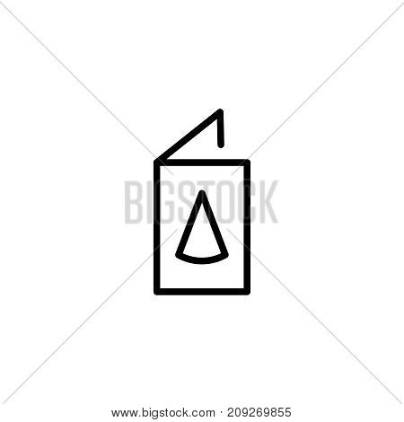 Invitation flat icon. Single high quality outline symbol of happy birthday for web design or mobile app. Thin line signs of holiday for design logo, visit card, etc. Outline logo of celebration