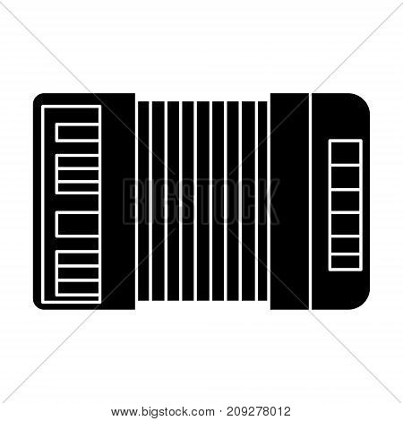 accordion icon, illustration, vector sign on isolated background