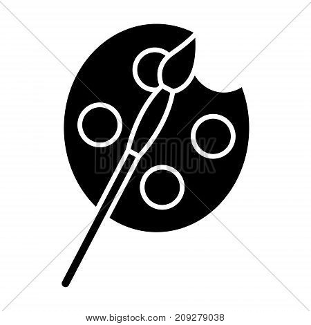 arts - paints and brush simple icon, illustration, vector sign on isolated background