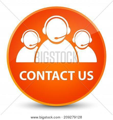 Contact Us (customer Care Team Icon) Elegant Orange Round Button