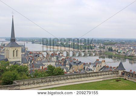 Saumur Castle above the River Loire, France