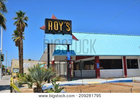 Legendary Roy's Cafe On Historic Highway Route 66.