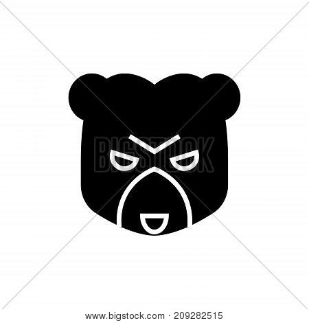 bear market icon, illustration, vector sign on isolated background