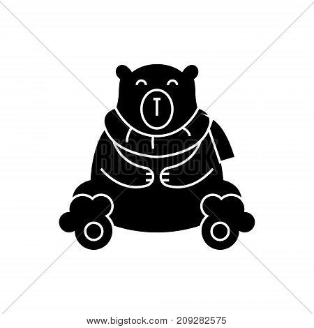 bear polar cute icon, illustration, vector sign on isolated background