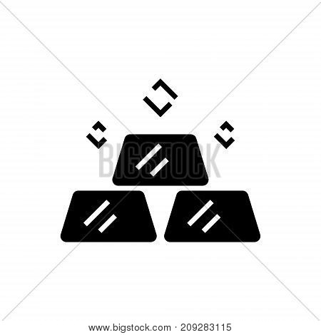 billion - gold bars icon, illustration, vector sign on isolated background
