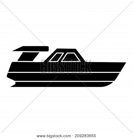 boat launch - yacht icon, illustration, vector sign on isolated background