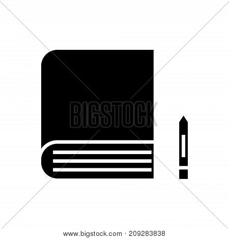 book icon, illustration, vector sign on isolated background