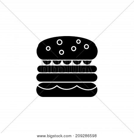 burder simple icon, illustration, vector sign on isolated background